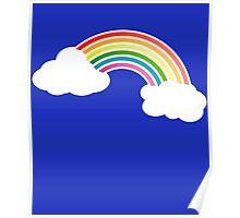 Retro 80s Rainbow Poster