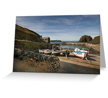 Mullion cove harbour  Greeting Card