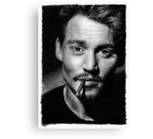 Johnny  Depp pencil drawing Canvas Print