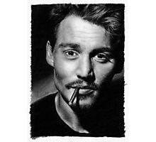 Johnny  Depp pencil drawing Photographic Print
