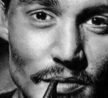 Johnny  Depp pencil drawing Sticker