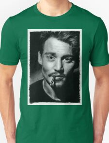 Johnny  Depp pencil drawing T-Shirt