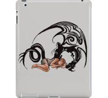 Sleeping Beauty Girl with Dragon Cartoon Drawing iPad Case/Skin