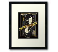 221B Playing Card Framed Print