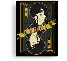 221B Playing Card Canvas Print