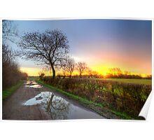 Sunrise At The Farm Poster