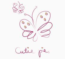 Cutie pie butterfly Kids Tee