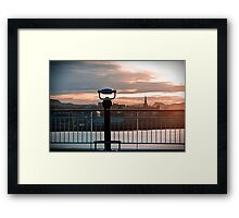 Trondheim, The View. Framed Print