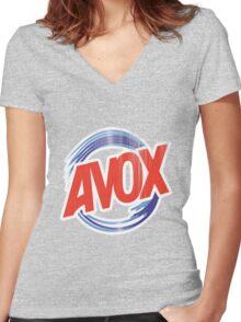 Avox Logo (distressed) Women's Fitted V-Neck T-Shirt