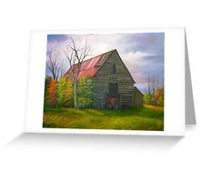 Red Roofed Barn in Georgia, Hwy 53 Greeting Card
