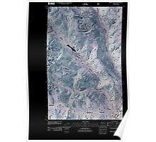 USGS Topo Map Washington State WA Mount Barney 20110427 TM Inverted Poster