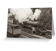 Leaving Goathland Station Greeting Card
