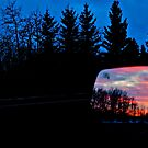 Sun Rising in my Rear View - Alberta Canada by Jessica Karran