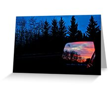 Sun Rising in my Rear View - Alberta Canada Greeting Card