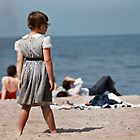 Lake Ontario beach 195705300017   by Fred Mitchell