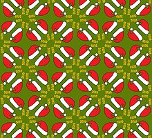 New year 2016 pattern, green background by Ederella