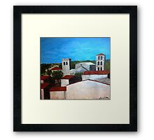 View from the kitchen in Caunes-Minervois Framed Print