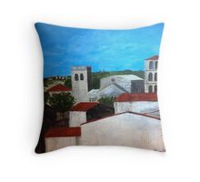 View from the kitchen in Caunes-Minervois Throw Pillow