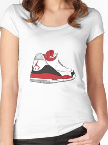 Fire Red 3's Women's Fitted Scoop T-Shirt