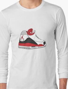 Fire Red 3's Long Sleeve T-Shirt