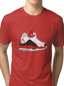 Fire Red 3's Tri-blend T-Shirt