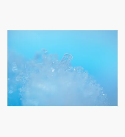 Frozen on the Blue Planet Photographic Print