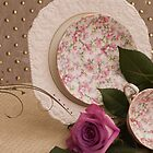 A Rosy Tea Setting by Sandra Foster
