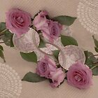 Roses And Tea Cup Beauty Times Two by Sandra Foster