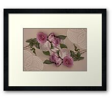 Roses And Tea Cup Beauty Times Two Framed Print