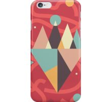 Mountains Floating in a Busy Space iPhone Case/Skin