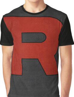 Team Rocket Logo Design Poster Pokemon Original Graphic T-Shirt
