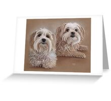 Indra and Guy Greeting Card
