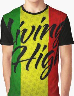 Living High Typography (Dark) Graphic T-Shirt