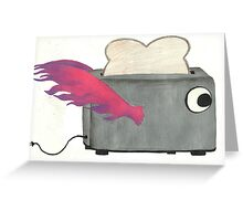 Flying Toaster Greeting Card