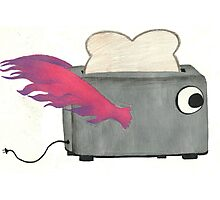 Flying Toaster Photographic Print