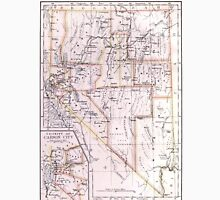 Vintage Map of Nevada (1884) Unisex T-Shirt