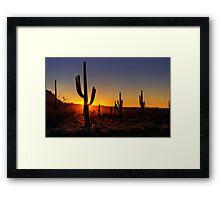 Christmas Morning in Arizona  Framed Print