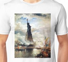 Statue of Liberty Unveiled by Edward Moran Unisex T-Shirt
