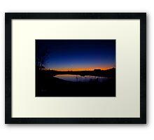 """ New Moon Over Kentucky, On Christmas Night 2011"" Framed Print"