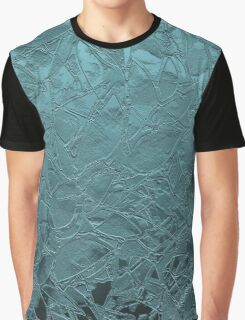 Grunge Relief Floral Abstract Graphic T-Shirt