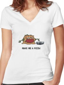 Arno the Tree Troll at Pizza Pass Women's Fitted V-Neck T-Shirt