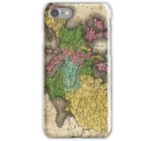 Vintage Map of Europe (1842) iPhone Case/Skin
