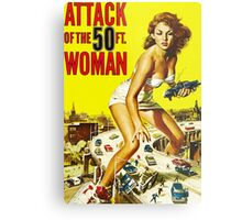 Attack of the 50ft Woman poster Metal Print