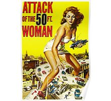 Attack of the 50ft Woman poster Poster