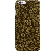 Hide The Spill - Brown and Yellow MTB Pedals iPhone Case/Skin
