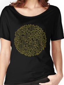 Hide The Spill - Brown and Yellow MTB Pedals Women's Relaxed Fit T-Shirt