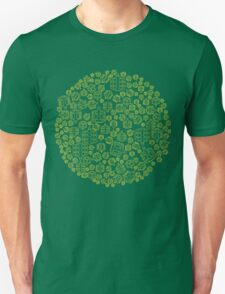 Hide The Spill - Brown and Yellow MTB Pedals T-Shirt