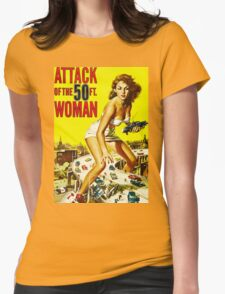 Attack of the 50ft Woman poster Womens Fitted T-Shirt