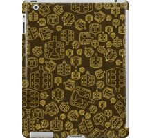 Hide The Spill - Brown and Yellow MTB Pedals iPad Case/Skin