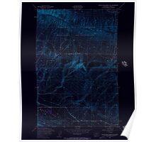 USGS Topo Map Washington State WA Black Rock Spring SW 240082 1953 24000 Inverted Poster